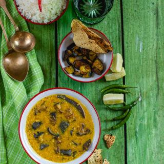 Begun Diye Kalai Dal (Urad Dal with Eggplant)