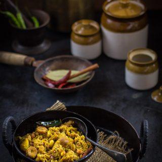 Pepe Ghonto (Raw Papaya Dry Curry)