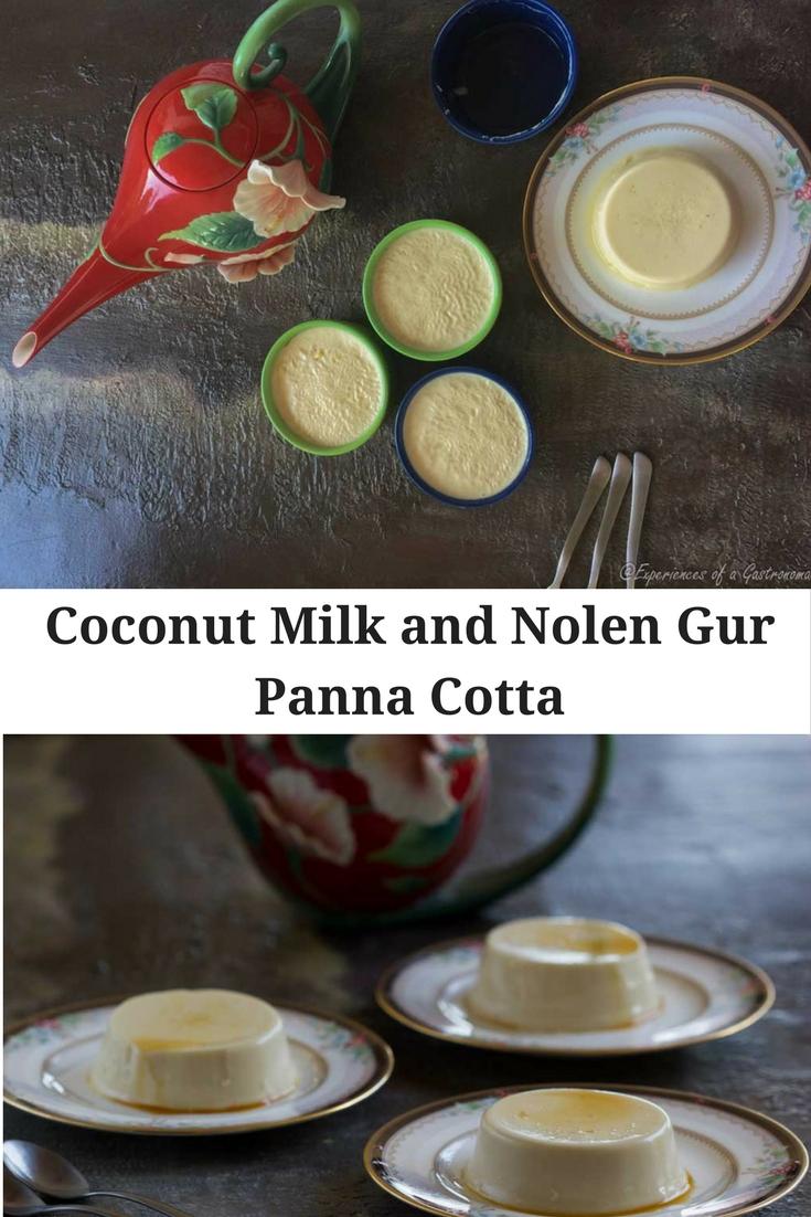 Coconut Milk and Nolen Gur Panna Cotta