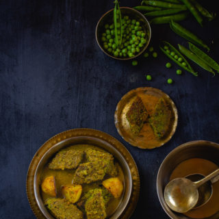 Koraishutir Dhokar Dalna (Green Pea Dumplings in Fragrant Curry)