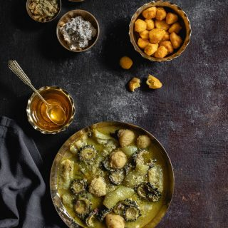 Jhinge Shukto (Ridgegourd and Bittergourd Curry)