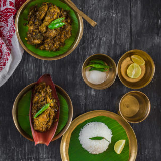 Koldil Murgi (Chicken with Banana Flower, Assamese Style)