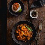 Kosha Chingri (Jumbo Prawns in a Spicy Dry Gravy)
