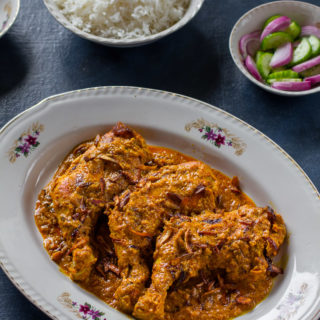 Dhakai Chicken Roast (Chicken Roast, Dhaka Style)