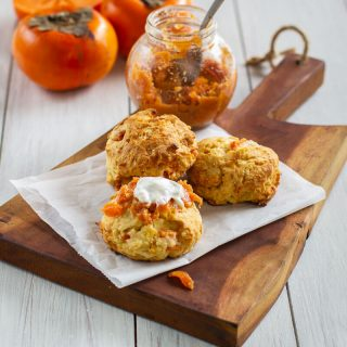 Persimmon Scones with a Spicy Persimmon Chutney