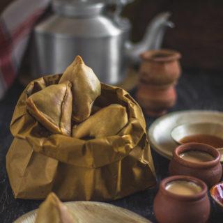 Baked Phulkopir Singara (Baked Cauliflower Samosa)