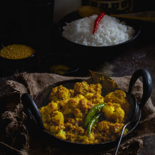 Moong Phulkopir Ghonto (Caulifower and Moong Dal Dry Curry)