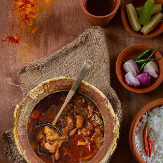 Hnaaribondho (Mutton Cooked in Dum, Dinajpur Style)