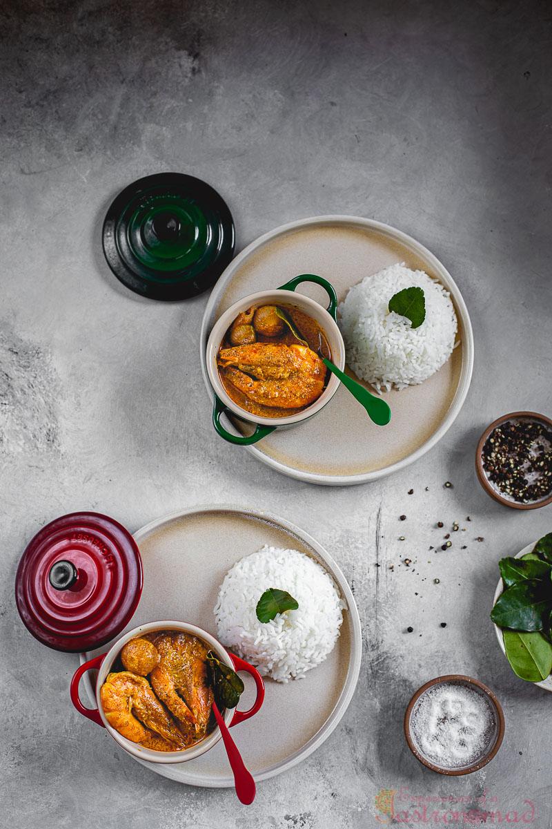 Lebu Patay Chingri Stew