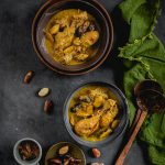 Kathal Bichi diye Murgi (Chicken Curry with Jackfruit Seeds)