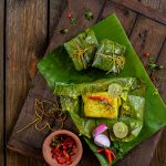 Maacher Dimer Paturi (Fish Roe in Banana Leaf Parcels)