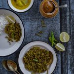 Lauer Khosha Bhaja (Stir-Fried Bottlegourd Peels)