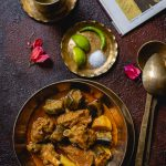 Kancha Aam diye Mangsho (Lamb with Raw Mangoes)