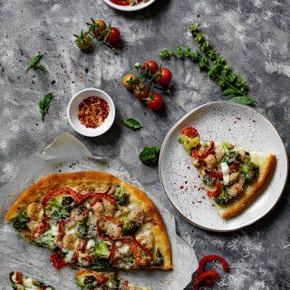 Chicken and Broccoli Pizza